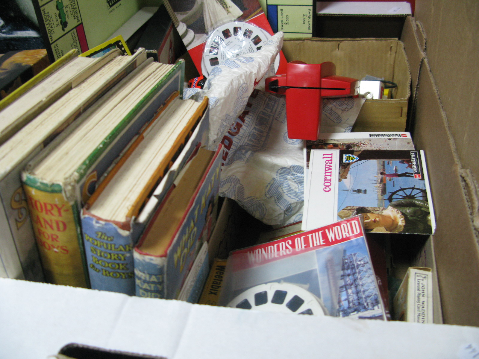 Lot 1014 - Vintage Monopoly and Other Games, Viewmaster and assorted slides including The Royal Wedding