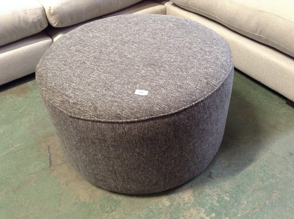 Lot 25 - GREY ROUND FOOTSTOOL