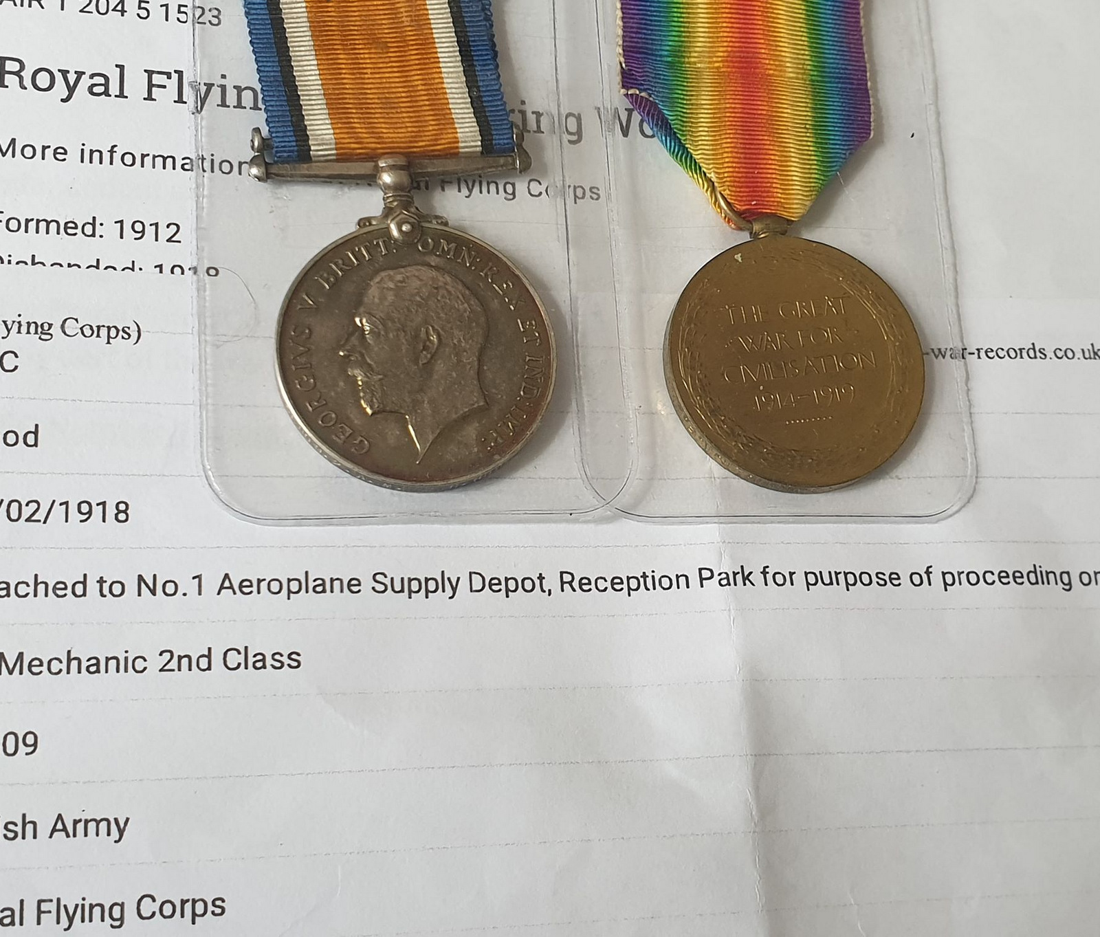 Pair Of Royal Flying Corps Medals - Image 10 of 10