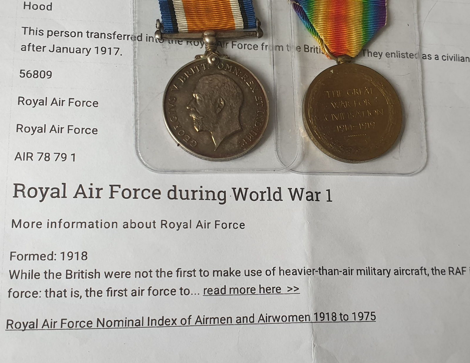 Pair Of Royal Flying Corps Medals - Image 8 of 10