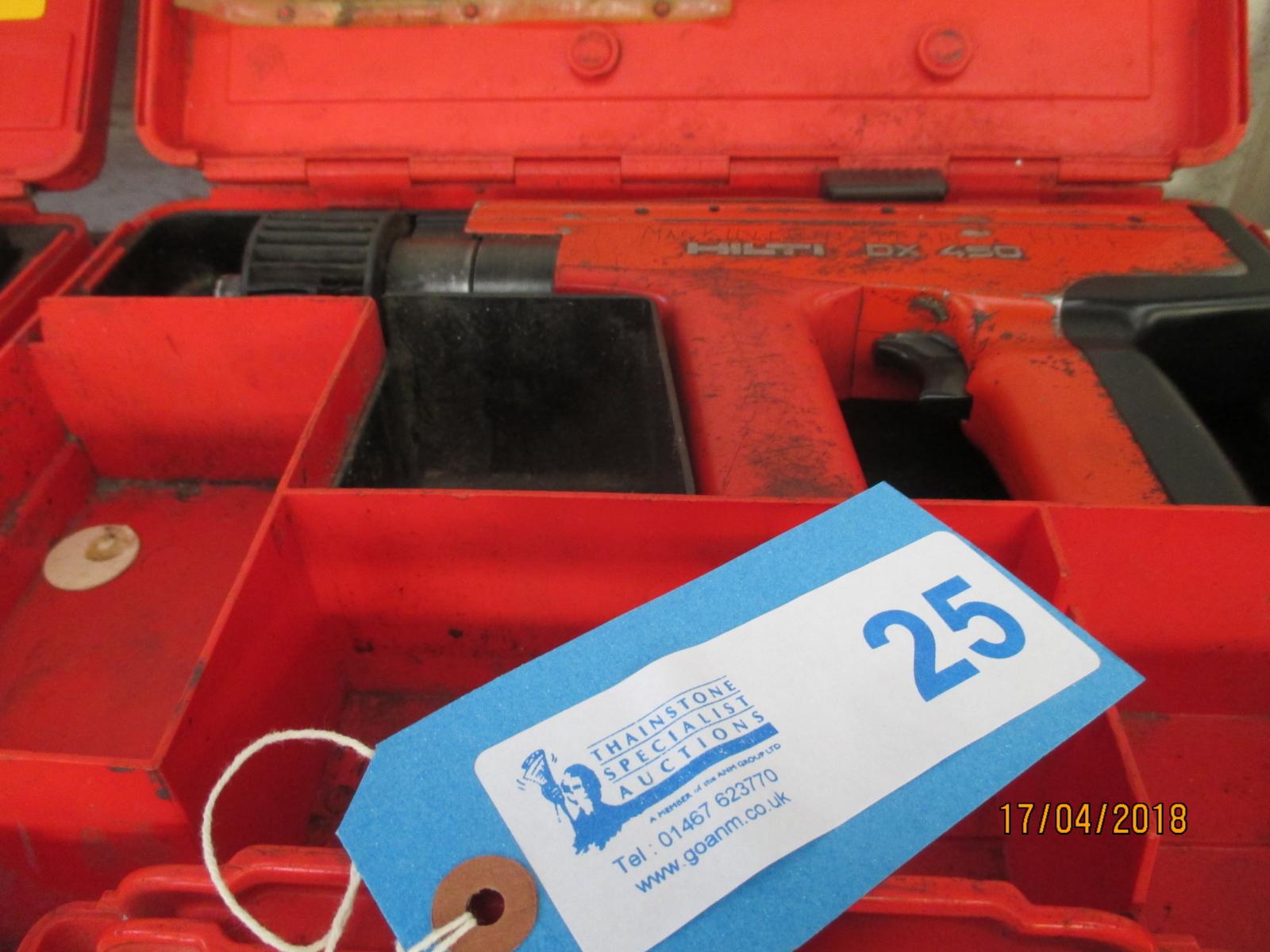 Lot 25 - 1 No. Hilti DX450 Nail Gun