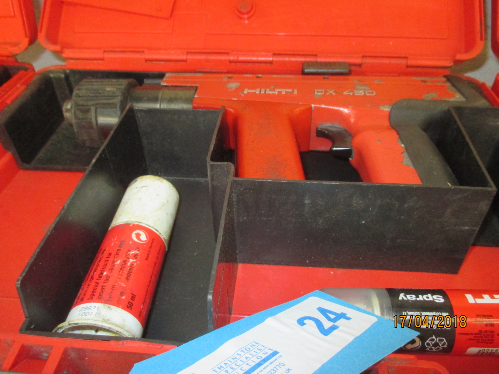 Lot 24 - 1 No. Hilti DX450 Nail Gun