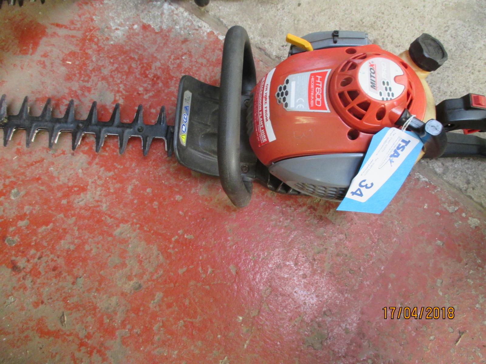 Lot 34 - 1 No. Mtox Pro HT600 Petrol Hedge Trimmer