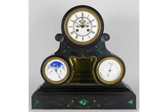 French mantel clock black