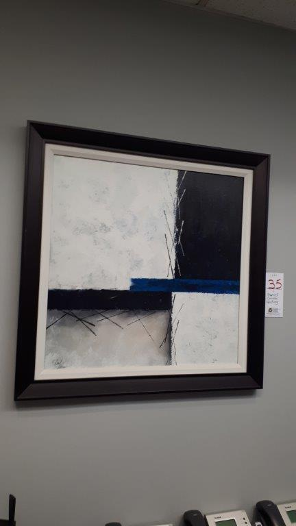 Lot 35 - Framed canvas painting
