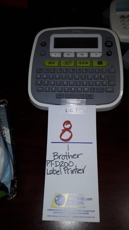 Lot 8 - Brother PT-D200 Label printer