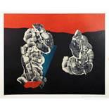 Max Ernst. Fleurs coquillages. Farblithographie. 1960. 39,7 : 49,4 cm (57,6 : 54,2 cm). Signiert und