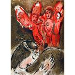 Marc Chagall. Dessins pour la Bible. Paris, Verve 1960. Mit 47 Lithographien, davon 24 farbigen
