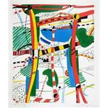 Peter Brüning. Legende. Farbserigraphie. 1965. 69,5 : 60 cm. Signiert, datiert und nummeriert.