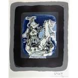 Georges Braque. Helios V. Farblithographie. 1948. 51 : 42 cm (66 : 50 cm). Signiert und