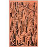 Programm des Staatlichen Bauhauses in Weimar. - Lyonel Feininger. Kathedrale. Holzschnitt. 1919.