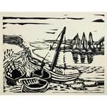 Eduard Bargheer. Sechs Holzschnitte. 1935. 31,5 : 42,7 cm. Im Stock signiert und datiert. Eins von