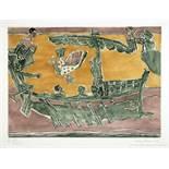 Eduard Bargheer. Hellas 2. Zehn Kaltnadelradierungen mit Aquatinta, davon vier farbig. 1973. 40,
