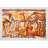 Eduard Bargheer. Sahara. Fünf Farblithographien. 1967. 42,3 : 58,5 cm. Signiert, datiert und