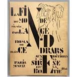 Fernand Léger - Blaise Cendrars. La fin du monde, filmée par l'Ange N.-D. Roman. Compositions en