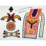 Alan Davie. Hommage a Picasso. Farblithographie. 1972. 50 : 60 cm. Signiert, datiert und nummeriert.