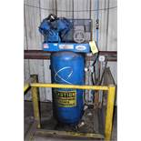 RECIPROCATING AIR COMPRESSOR, QUINCY MDL. QTV-54, 2-stage, 230V., 1-phase, 60 gal. cap. vertical