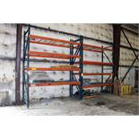 "ADJUSTABLE PALLET RACK, 12 x 42"" w/8' beams, approx. (4) uprights, (16) beams, (16) wire deck"