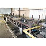 """HYDRAULIC PIPE LOADING/UNLOADING SYSTEM, 40'L. per side, (8) pwrd. rollers, 21""""L. roller, ((1) w/"""