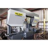"""AUTOMATIC HORIZONTAL BANDSAW, HYD-MECH MDL. H22A, new 2005, 22"""" round cap., 2"""" blade size, power"""