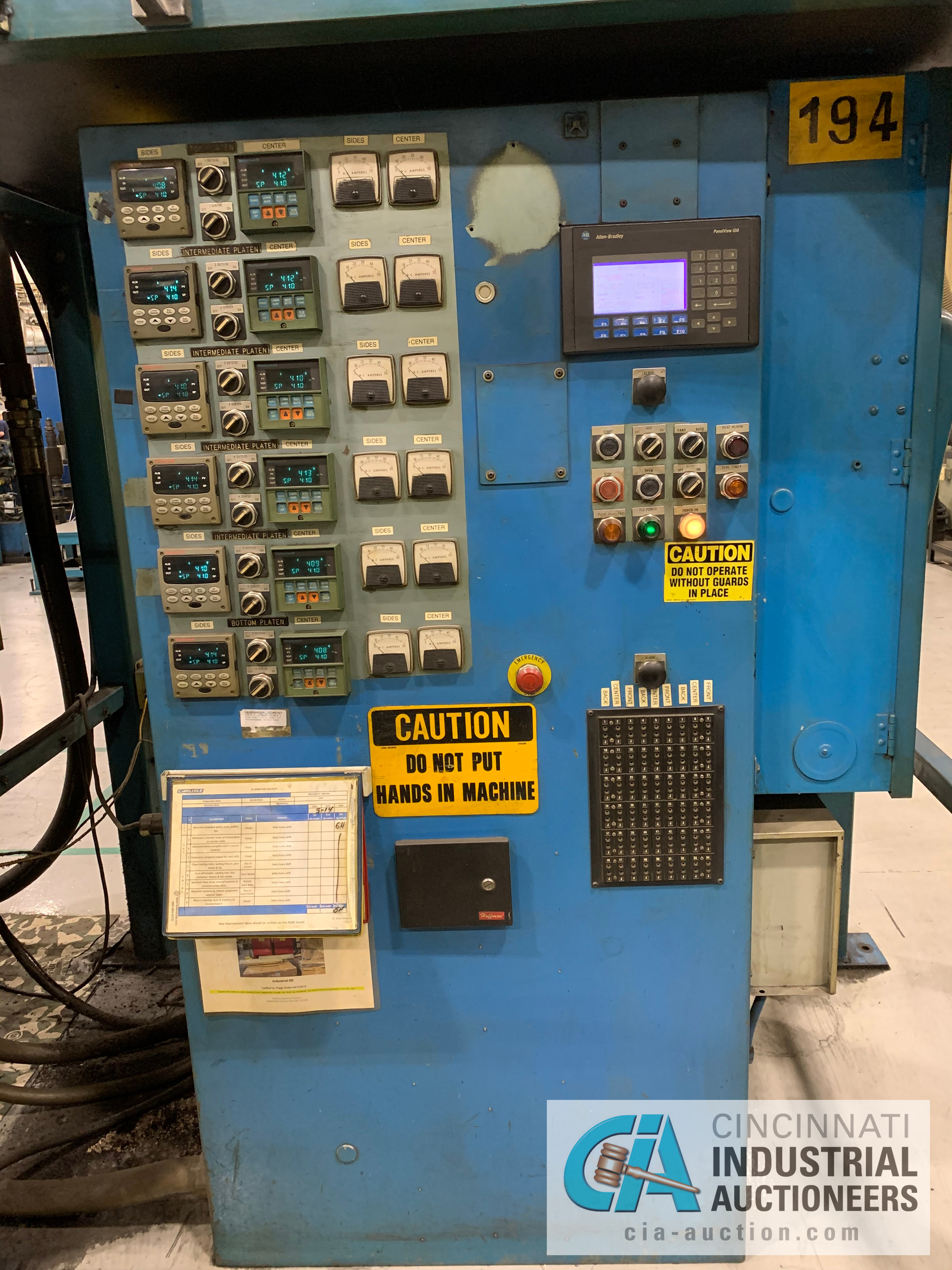 """32"""" 5-PLATTEN HEATED PRESS **RIGGING FEE DUE TO SHOEMAKER $2,250.00** - Image 3 of 7"""