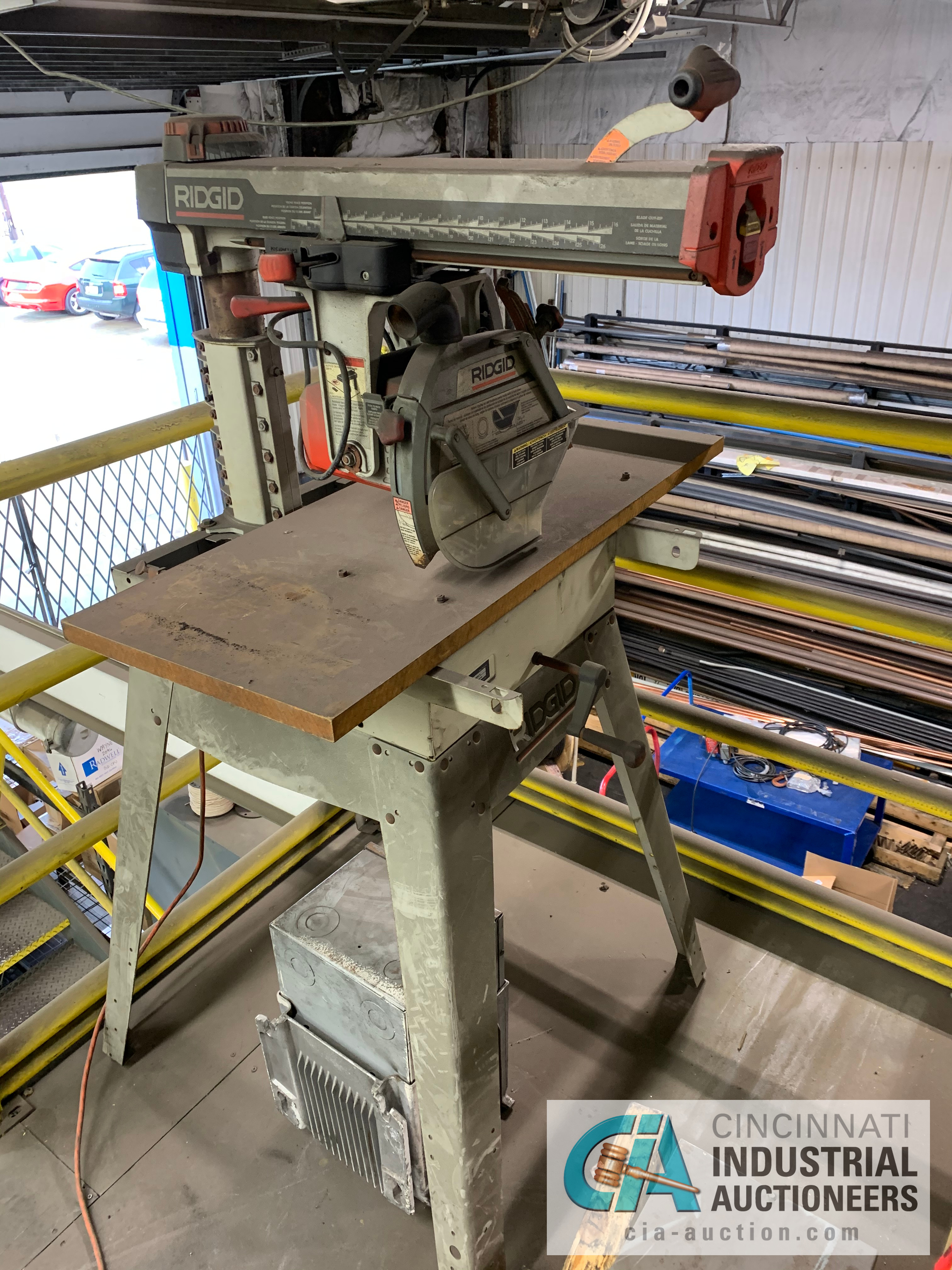 RIGID RS1000 RADIAL ARM SAW **RIGGING FEE DUE TO SHOEMAKER $50.00** - Image 3 of 3
