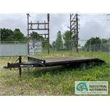QUALITY TRAILER; VIN: 5NDFP20218S000123 (2007), 9,990 LB GVWR, 8' WIDE X 20' LONG DECK, 25'6""
