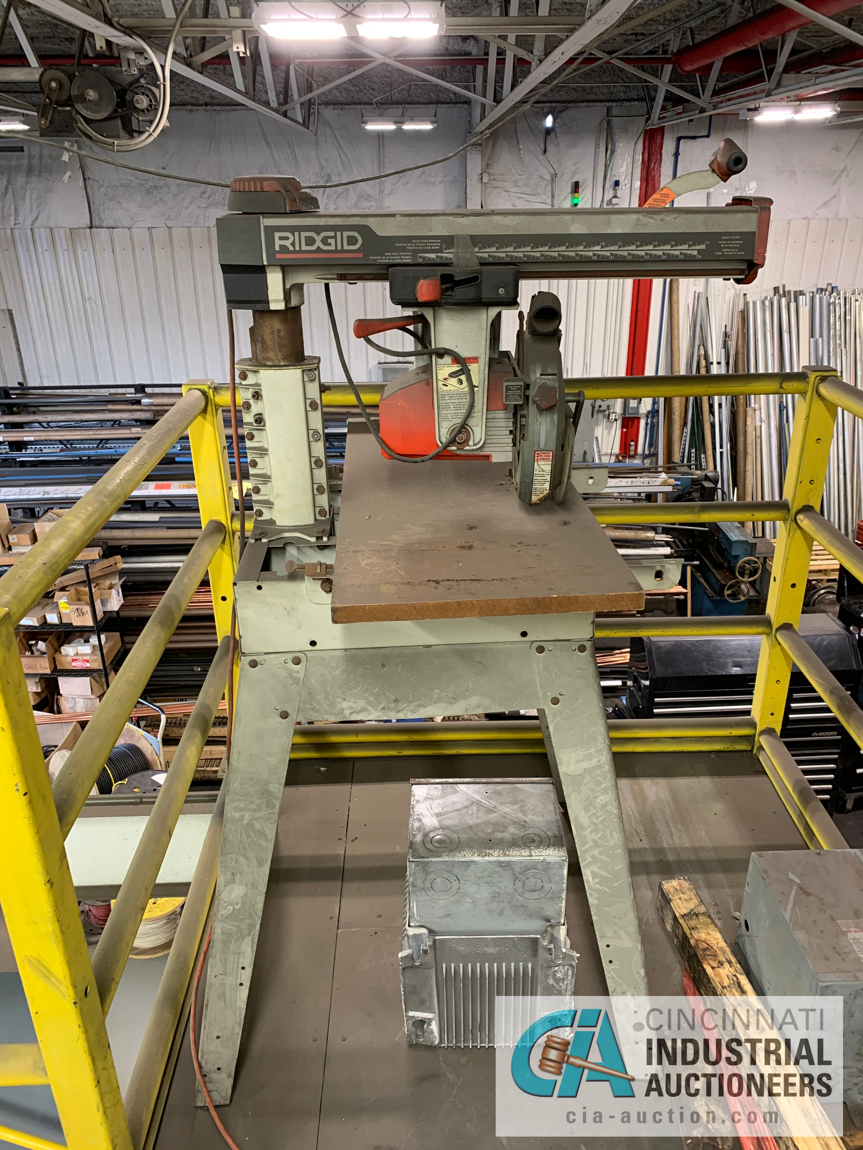 RIGID RS1000 RADIAL ARM SAW **RIGGING FEE DUE TO SHOEMAKER $50.00**