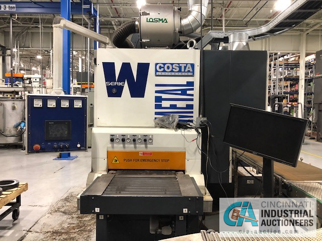 (1 OF 2 PICTURED) 600 MM COSTA MODEL WD7 CCCC 600 METAL SANDERS; S/N MB730009A (NEW 2017), WET