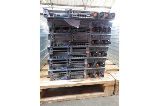 6 Dell PowerEdge R610 and R710 rack mounted servers - 2 x