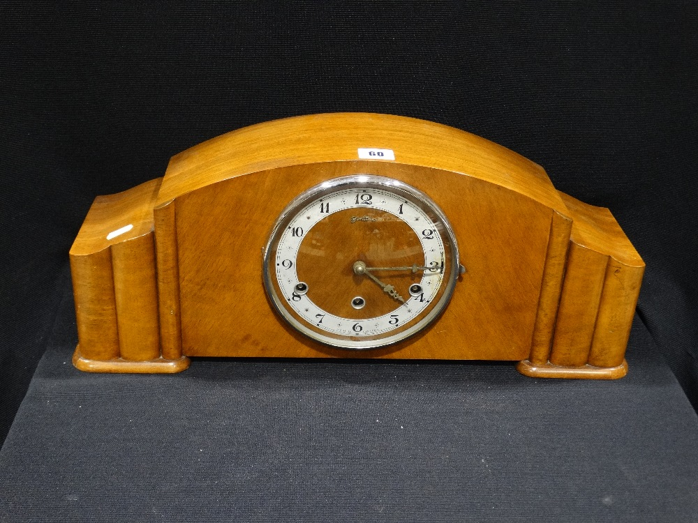 Lot 60 - A Art Deco Period Westminster Chime Mantel Clock