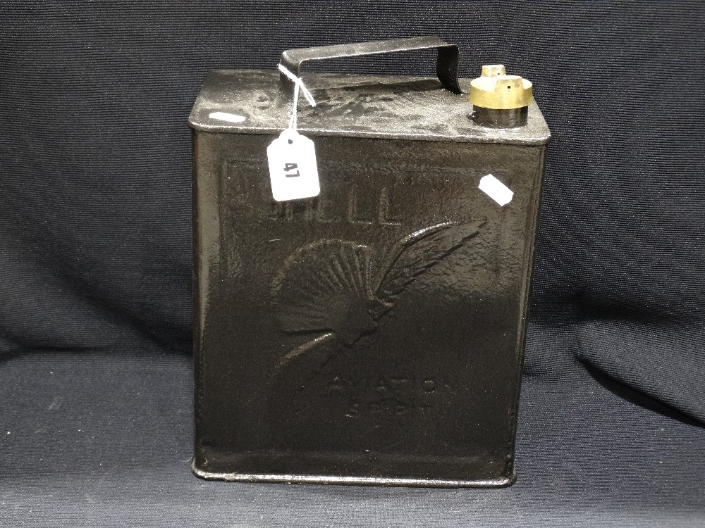 Lot 47 - A Vintage Shell Fuels Aviation Spirit Can
