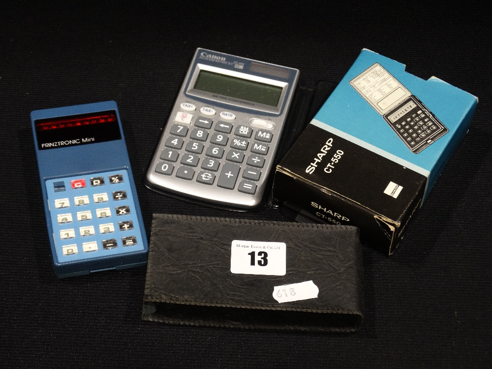 Lot 13 - A Retro Prinztronic Mini Calculator Etc (3)