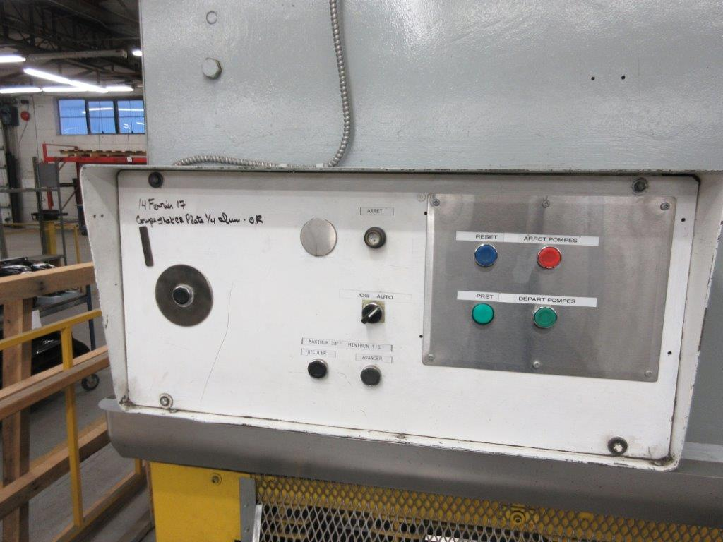 ALL STEEL Hydraulic shear 575 volts, 1099 Steel, Mod: 10G-10, 10ft, 8ft back guage, 10 guage, - Image 4 of 8