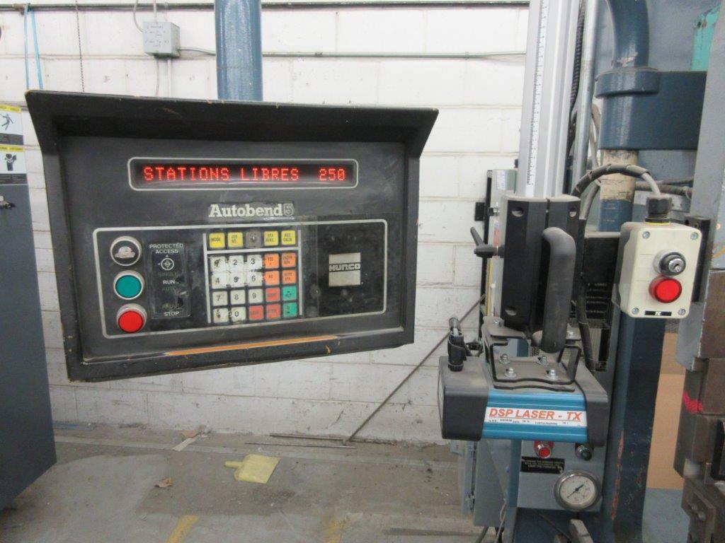PROMECAM Press brake w/t DSP Laser-Rx Cap:150 Ton Imperial, 12ft, Mod RG 154, Laser, 6ft back guage, - Image 3 of 11
