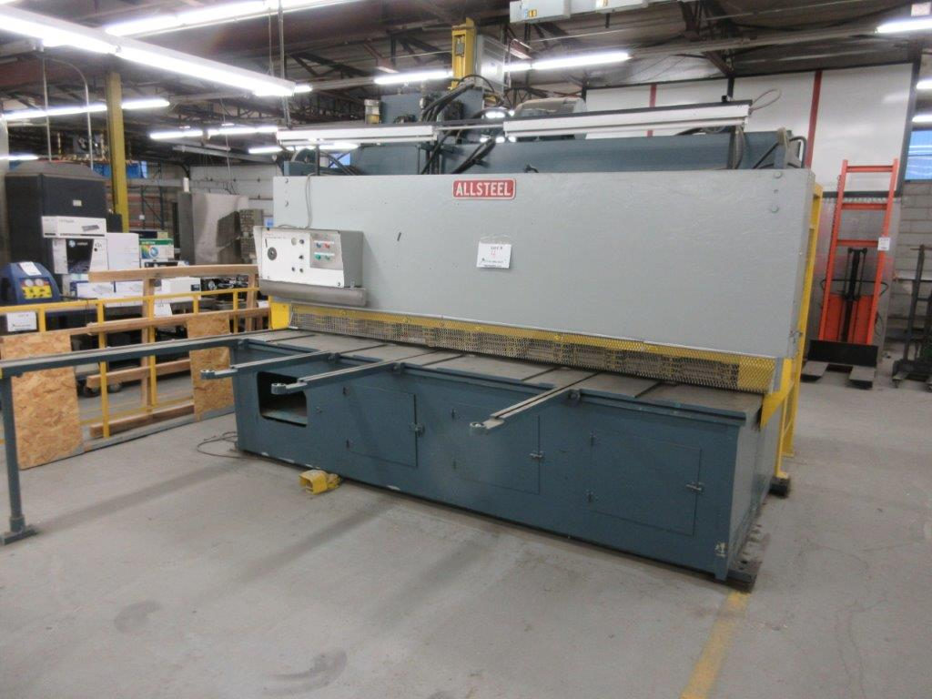 ALL STEEL Hydraulic shear 575 volts, 1099 Steel, Mod: 10G-10, 10ft, 8ft back guage, 10 guage, - Image 2 of 8