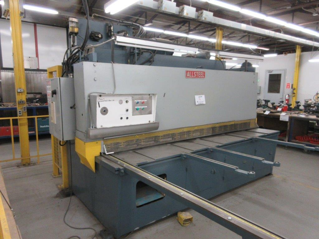 ALL STEEL Hydraulic shear 575 volts, 1099 Steel, Mod: 10G-10, 10ft, 8ft back guage, 10 guage, - Image 8 of 8