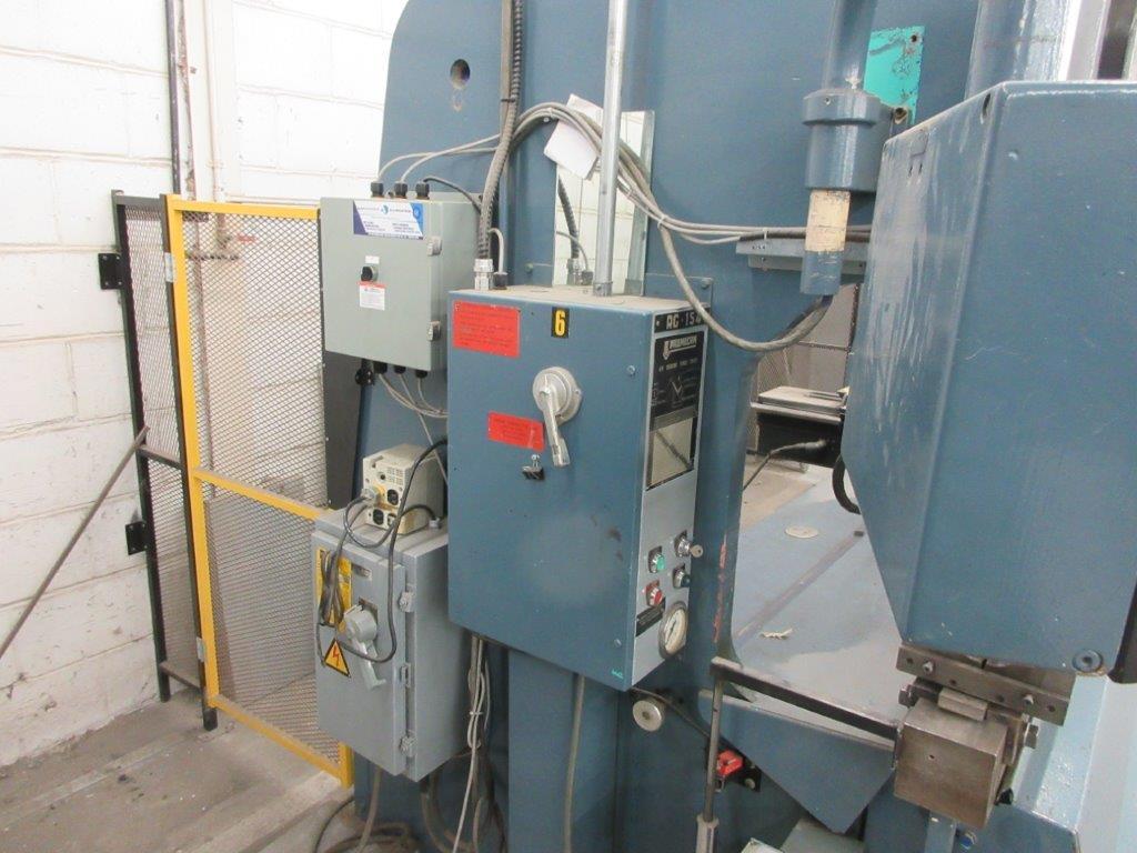 PROMECAM Press brake w/t DSP Laser-Rx Cap:150 Ton Imperial, 12ft, Mod RG 154, Laser, 6ft back guage, - Image 5 of 11