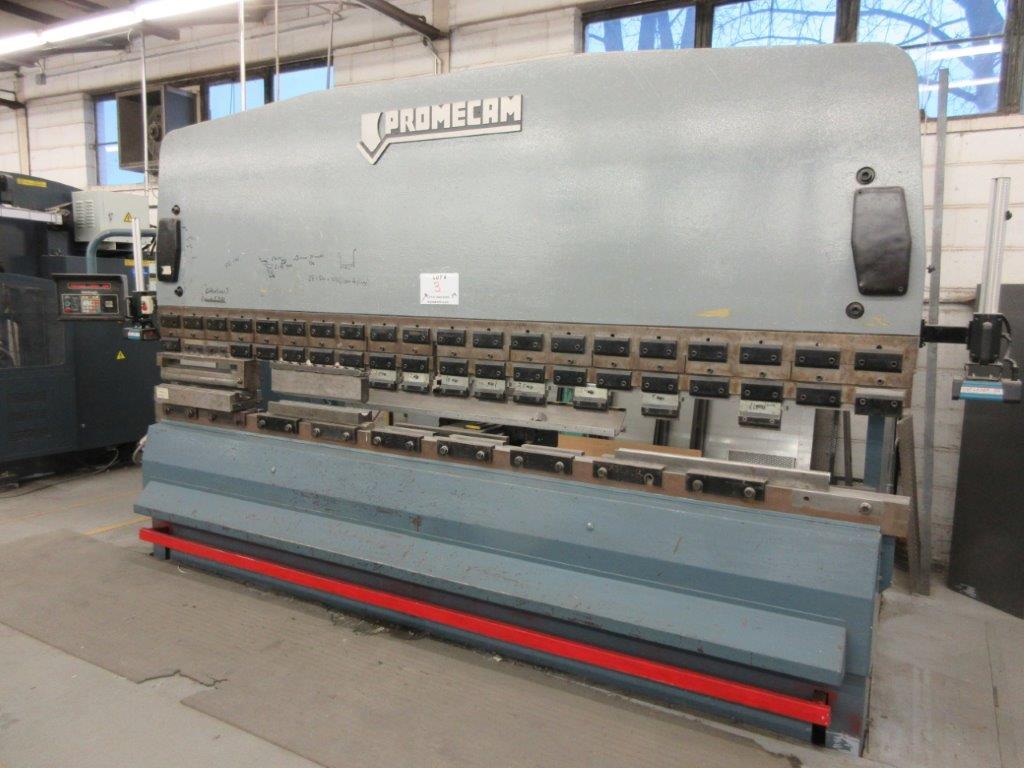PROMECAM Press brake w/t DSP Laser-Rx Cap:150 Ton Imperial, 12ft, Mod RG 154, Laser, 6ft back guage,