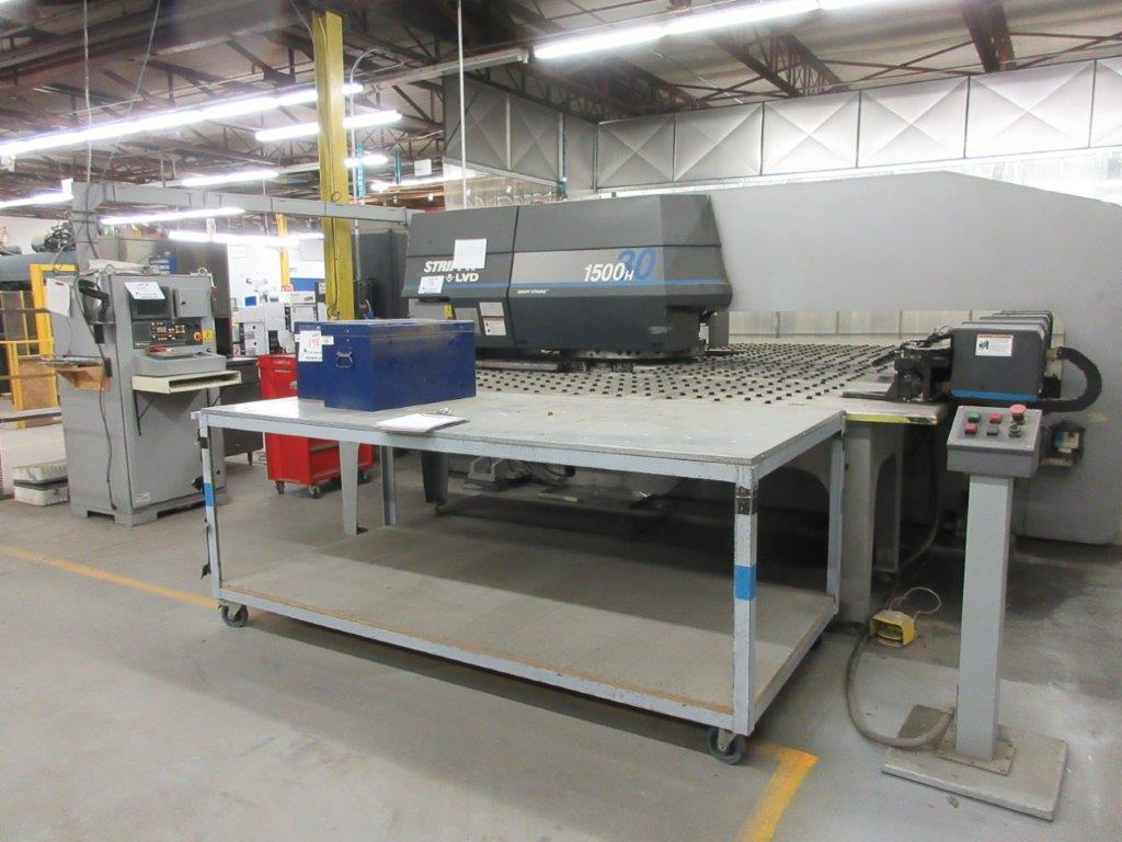 STRIPPIT Turret punch press (2001) , 30 Ton, Mod: 1500 H-30, 8ft large, air table system, - Image 3 of 17