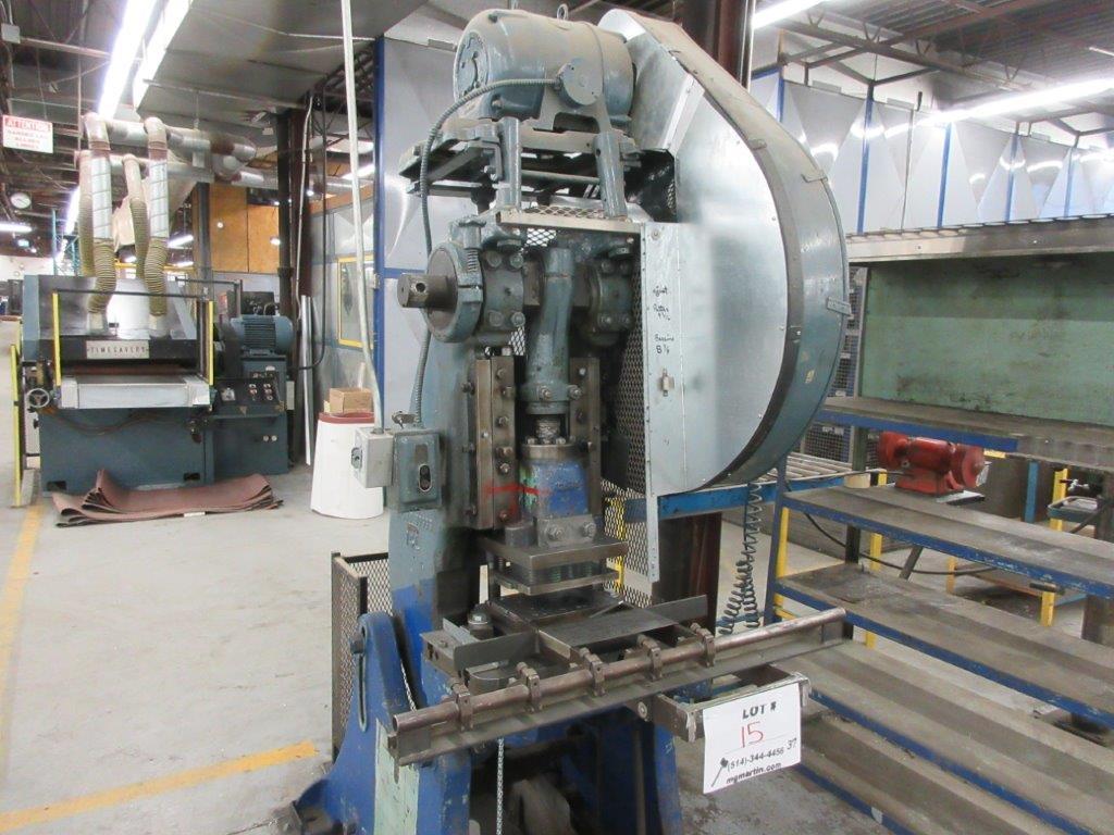 BROWN & BOGGS Punch press OBI, 14L, 14 Ton - Image 2 of 4