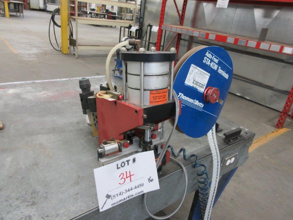 THOMAS & BETTS Tool crimping machine type : 12050,80-125 PSI - Image 2 of 2
