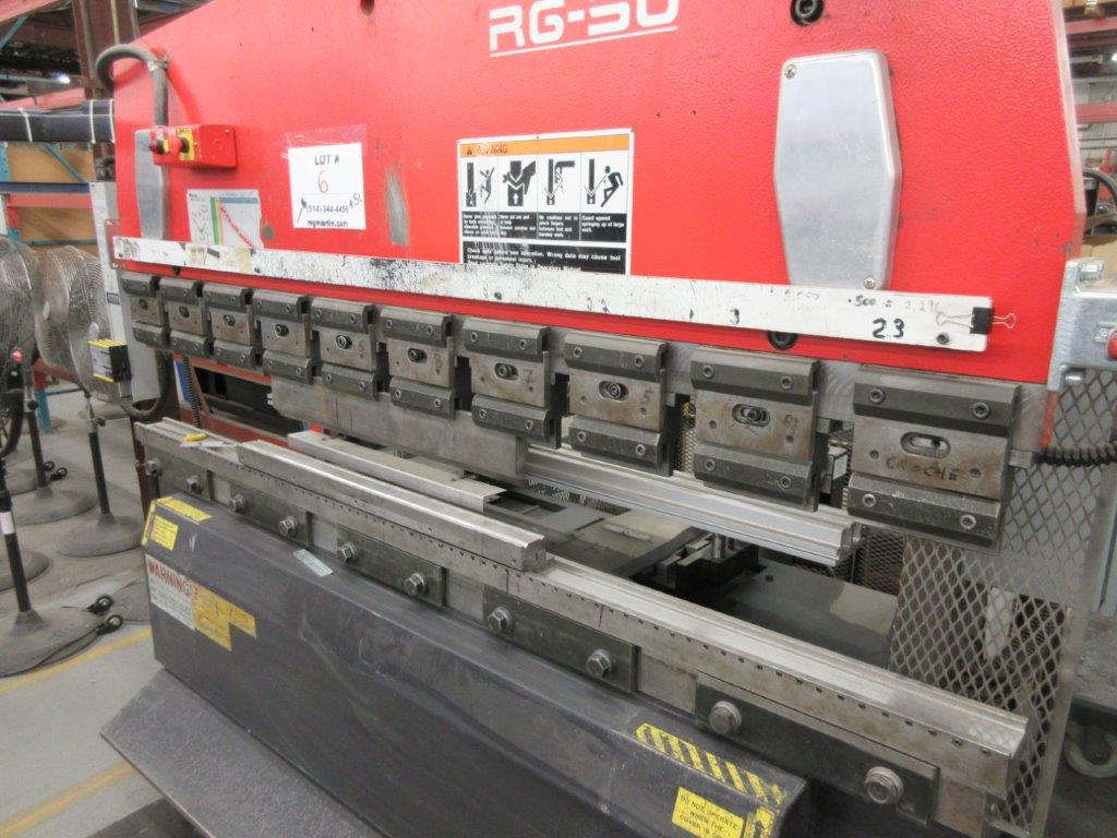 AMADA CNC Hydraulic brake press (1998) Mod: RG 50, Cap: 50 Ton. 6ft back guage, electronic control - Image 3 of 7