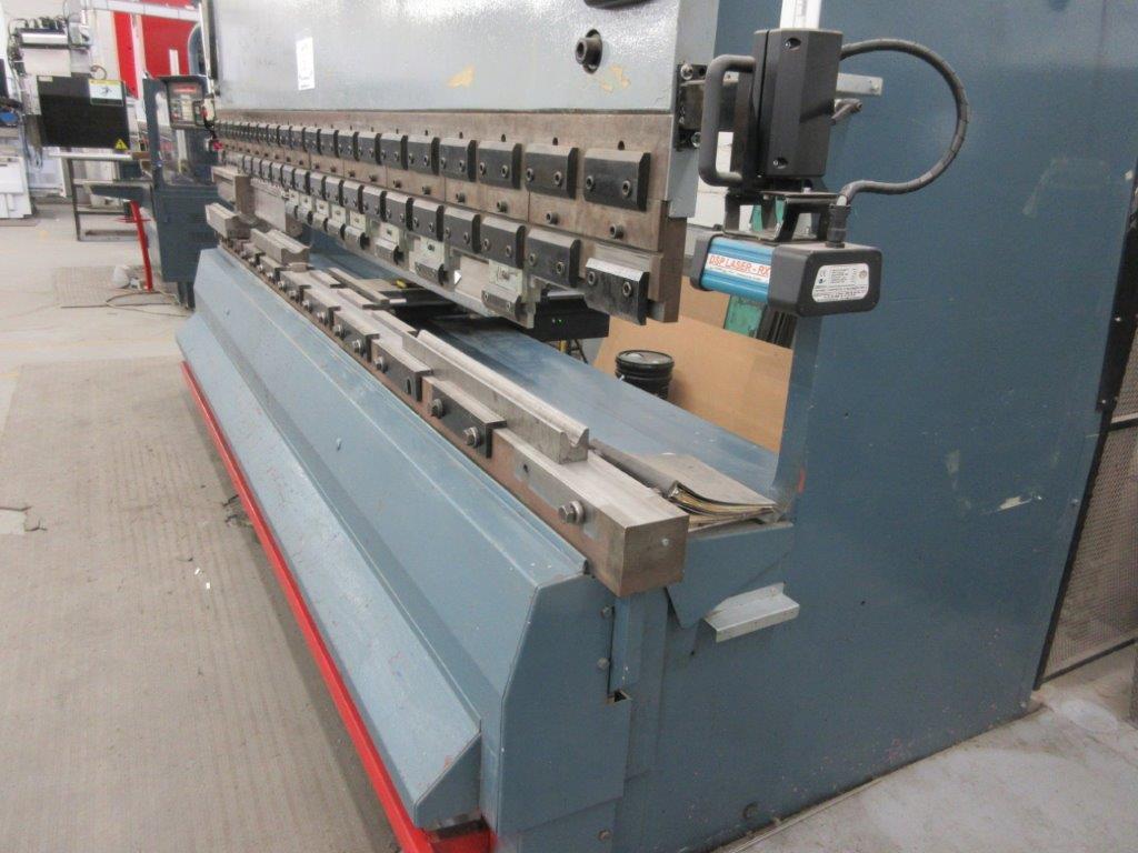 PROMECAM Press brake w/t DSP Laser-Rx Cap:150 Ton Imperial, 12ft, Mod RG 154, Laser, 6ft back guage, - Image 8 of 11
