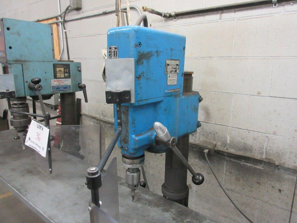 ARBOGA MASKINER Drill press 1/4 hp ,type G2508, 575 Volts, 1.1 hp - Image 2 of 3