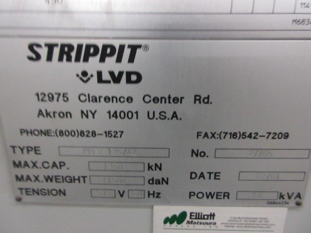 STRIPPIT LVD press brake (1999) type PPEB 135/42 max cap: 1350, 575 volts, 60 hz , 135 Ton, 14ft, - Image 9 of 11