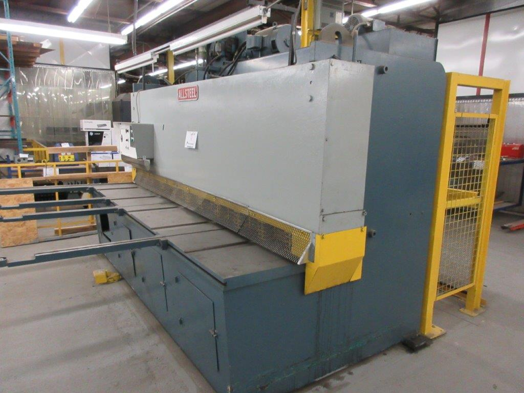 ALL STEEL Hydraulic shear 575 volts, 1099 Steel, Mod: 10G-10, 10ft, 8ft back guage, 10 guage, - Image 7 of 8