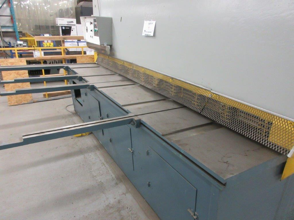 ALL STEEL Hydraulic shear 575 volts, 1099 Steel, Mod: 10G-10, 10ft, 8ft back guage, 10 guage, - Image 3 of 8