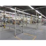 Sections industrial racking (1) 119w x 48d x 10ft h / (4) 102w x 48d x 10ft h