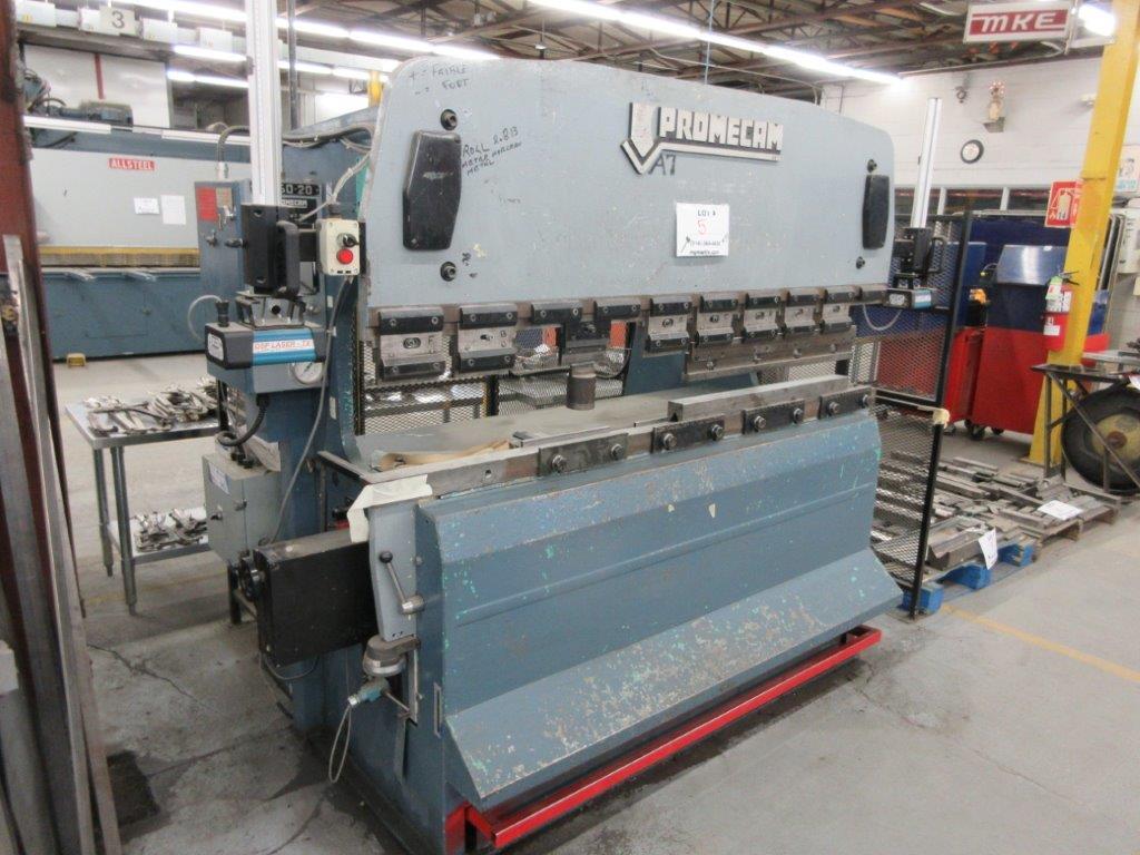 PROMECAM Press brake Cap: 50 Ton, Mod: RG50-20, 6ft, laser - Image 2 of 6